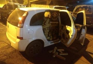 DOF apreende veículo 918 quilos de maconha