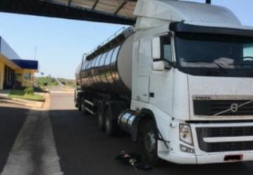 PRF apreende carreta tanque destinada para carregar cigarros